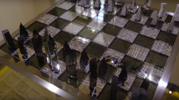 a championship-size chess set designed For 'Architecture and The City' Libeskind's