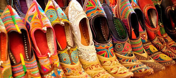 Curated Jaipur Shopping - Jutties & Traditional camel leather footwear