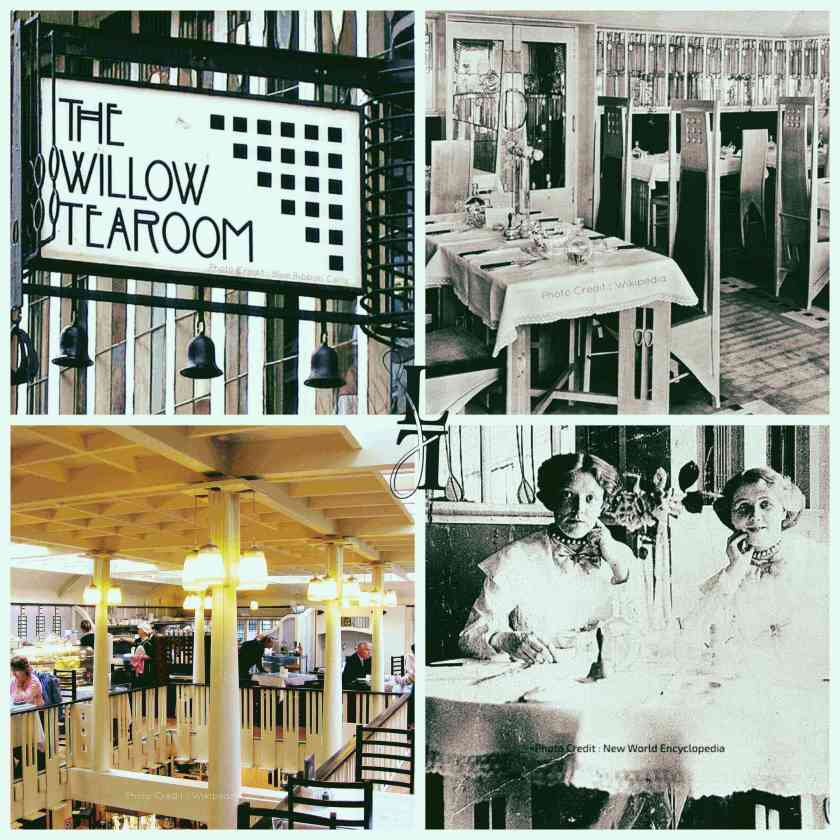 The Willow Room. Photo Credit (Clockwise from top left) : Blue Ribbons Celt, Wikipedia, New World Encyclopaedia, Wikipedia