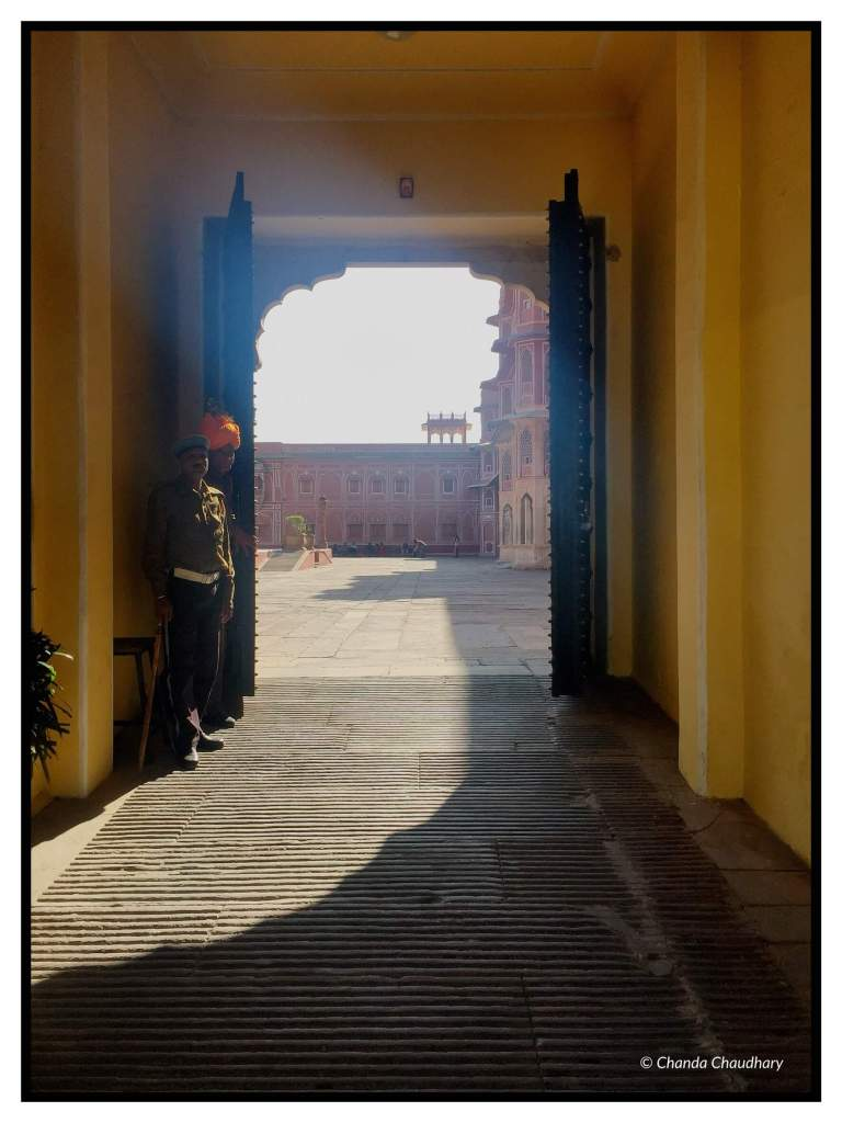 The doors of king's residence open to the courtyard of City Palace, just outside Diwan-i-Khas