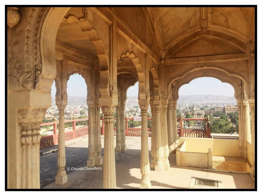 Views of Jaipur city from the Crown Room / Mukut Niwas / terrace of King's private residence