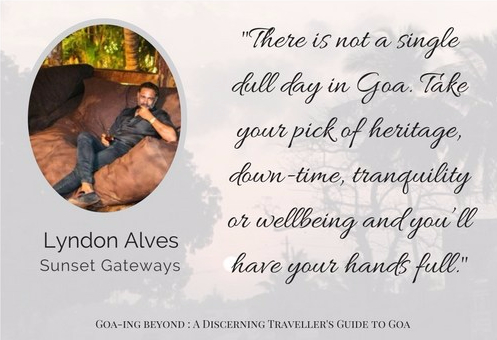 Lyndon Alves of Sunset Gateways Goa speaks to Chanda Chaudhary