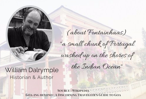 Quote about Fontainhaas by William Dalrymple